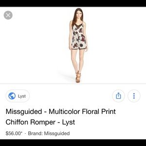 NOT Missguided floral romper